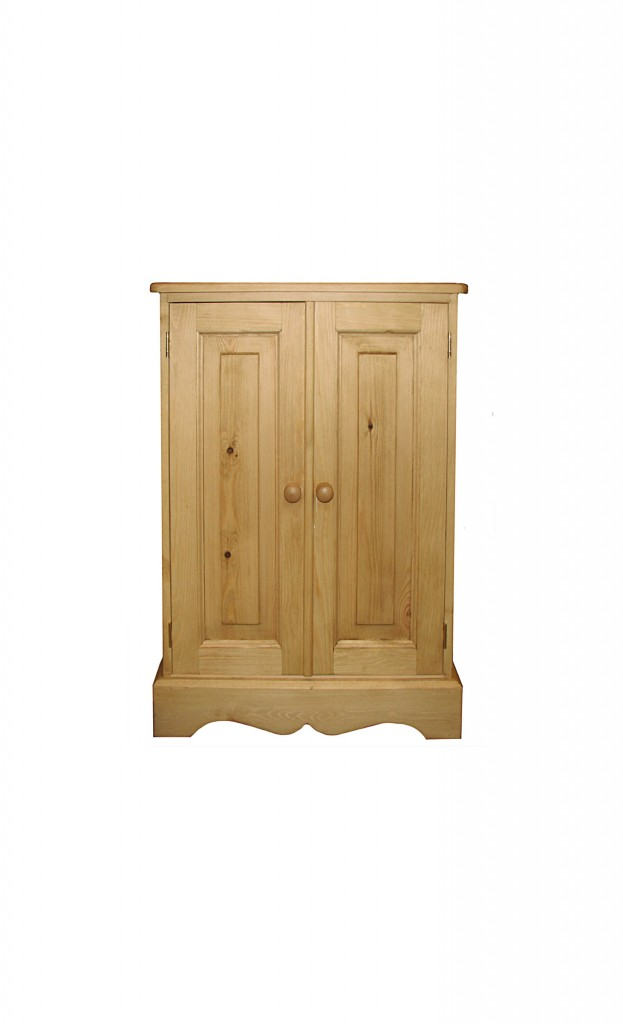 Kerris farmhouse pine adjustable with doors for Furniture 30cm deep