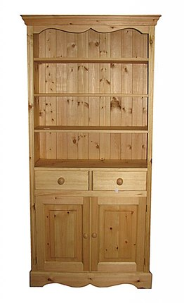 Bookcase solid wood drawers and doors