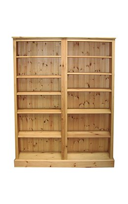 Double width adjustable bookcase