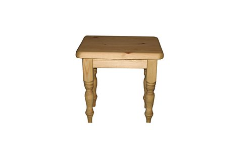 Wooden top dressing table stool