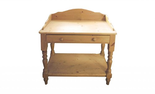 Washstand with shelf at bottom
