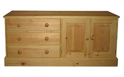 Door and drawer widescreen TV
