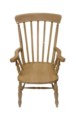 Slat back grandfather chair