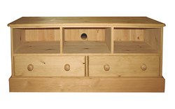 Wide screen TV stand 2 drawers