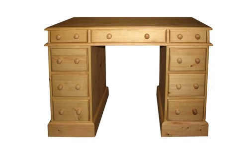 Small double pedestal desk