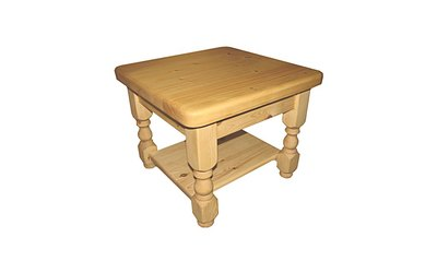 60cm square Coffee table with shelf