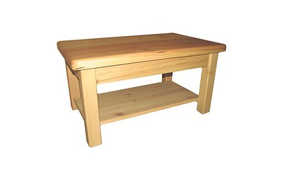 76cm x 58cm Coffee table with shelf