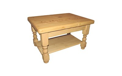 92cm x 58cm Coffee table with shelf