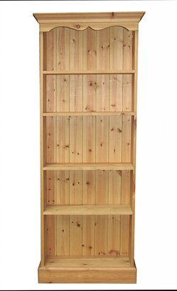 Tall fixed shelf bookcase