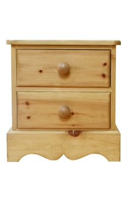 Bedside 2 drawer W