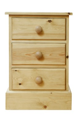 Bedside 3 drawer S