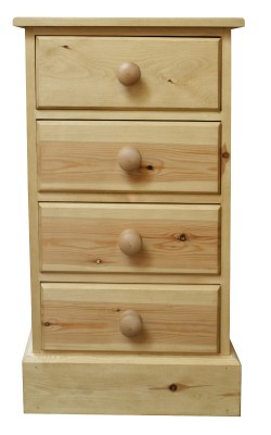 Bedside 4 drawer S