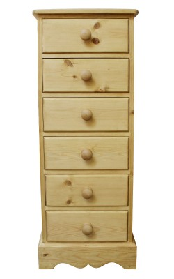 Bedside 6 drawer W