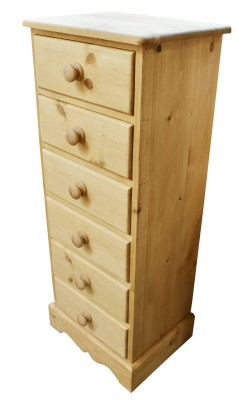 Bedside 6 drawer Wavy