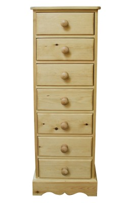 Bedside 7 drawer W