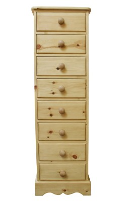 Bedside 8 drawer W