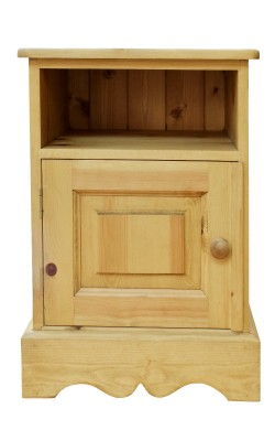 Bedside cupboard open top W