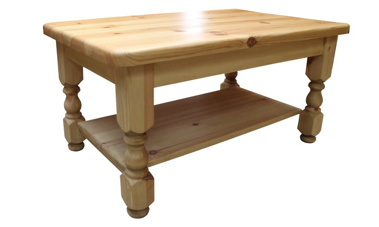 36 coffee table with shelf