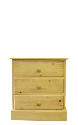 Baby chest 3 drawer straight