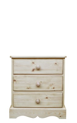 Baby chest 3 drawer wavy