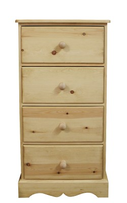 Baby chest 4 deep drawer straight