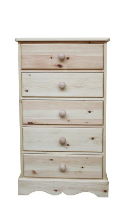 Baby chest 5 drawer wavy