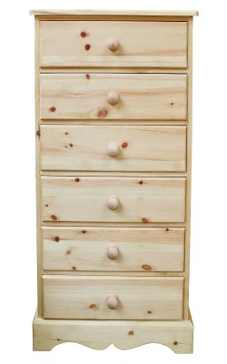 Baby chest 6 drawer wavy