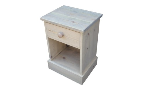 Rustic one drawer bedside wp