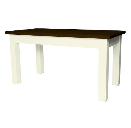 Rustic dark Straight leg table cream