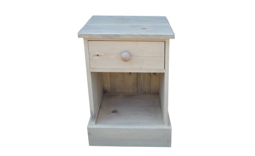 Rustic single drawer bedside wp