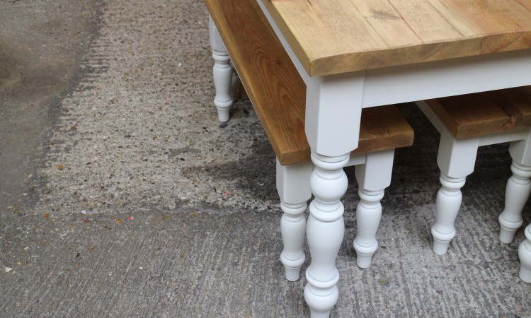 Painted cream farmhouse table
