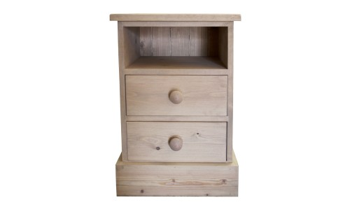 Rustic 2 drawer bedside