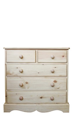 Chest 2 over 3 drawer wavy