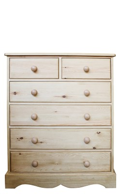 Chest 2 over 4 drawer wavy